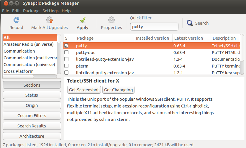 How To Install & use Putty in Ubuntu Linux