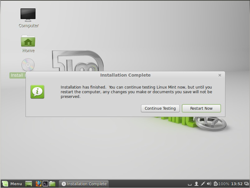 linumint-installation-completed