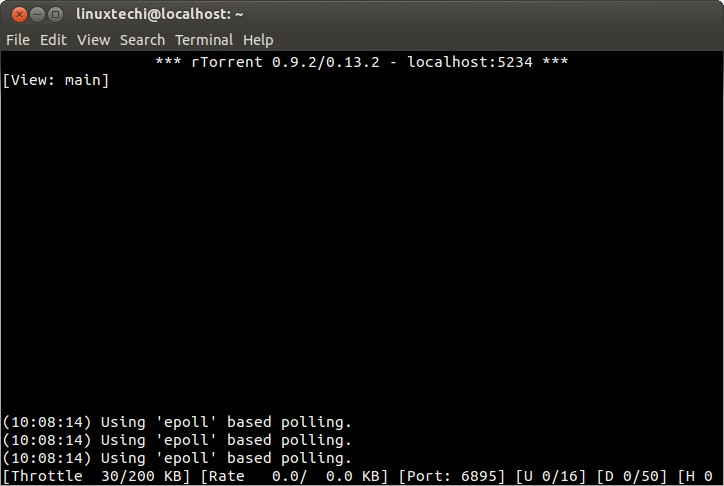 download torrents ubuntu command line
