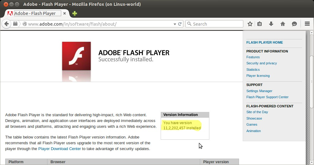 How to Install Adobe Flash Player on Ubuntu 15 04 / 16 04