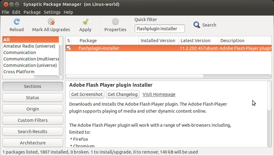 flashplugin-ubuntu15-synaptic