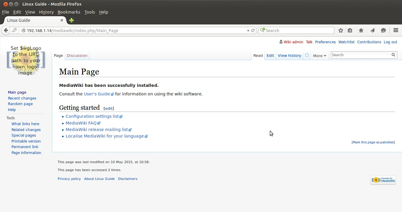 how to install mediawiki on centos 7 or rhel 7 server