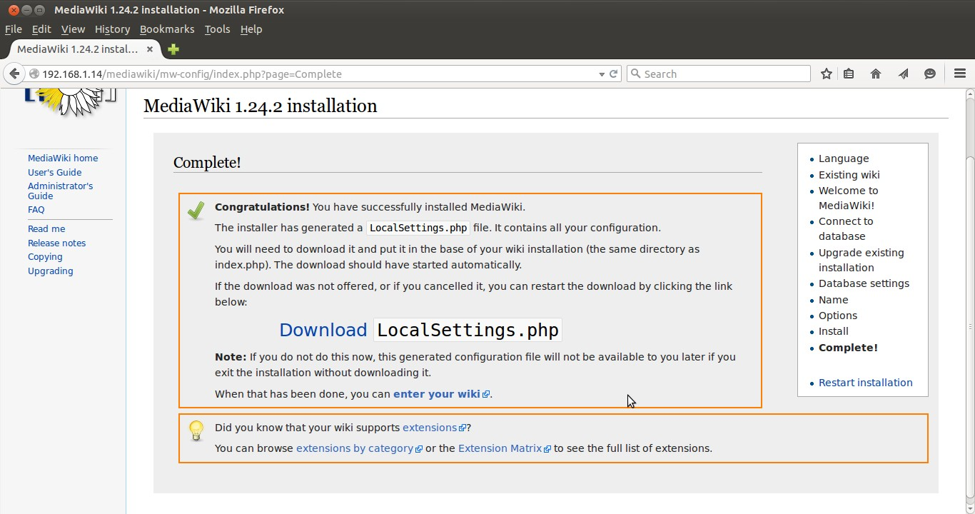 mediawiki-installation-completed
