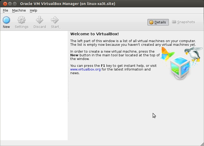 OpenSUSE-VirtualBox-Manager
