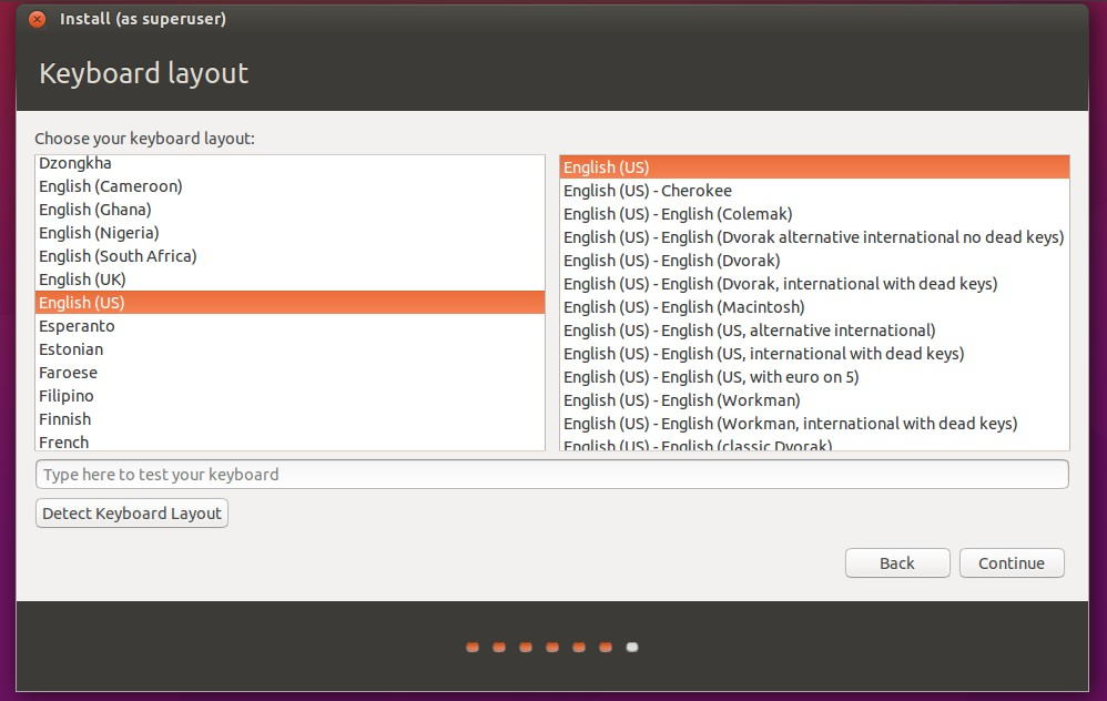 select-laguage-for-ubuntu-installation