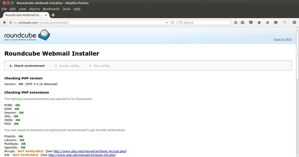 Roundcube-Webmail-Installer-page