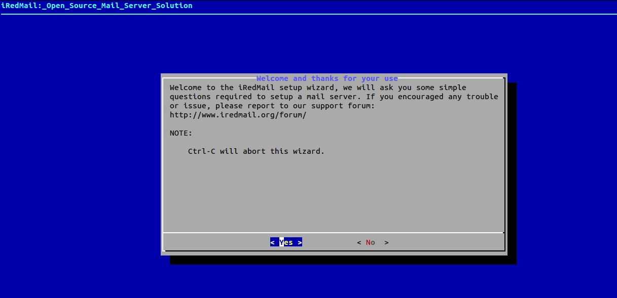 iRedmail-installation-welcome-message