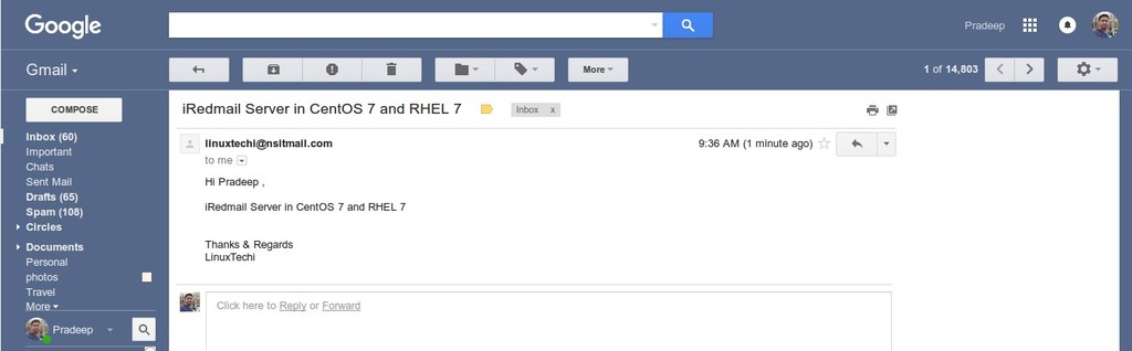 mail-from iredmail-on-gmail