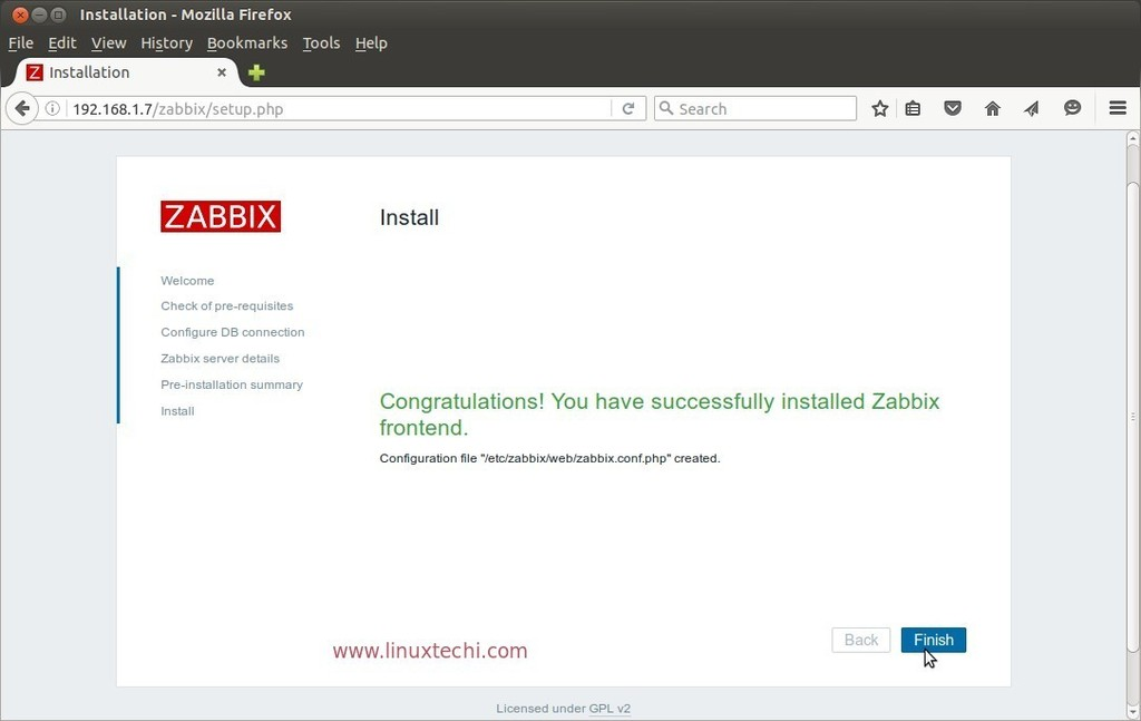 zabbix-installation-successfully