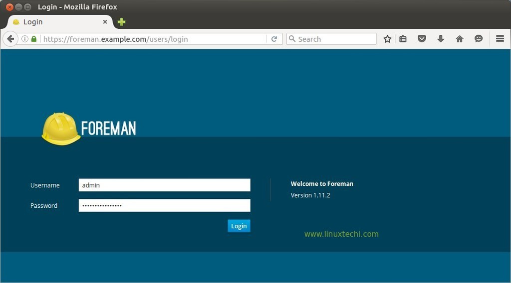 Login-foreman-dashboard