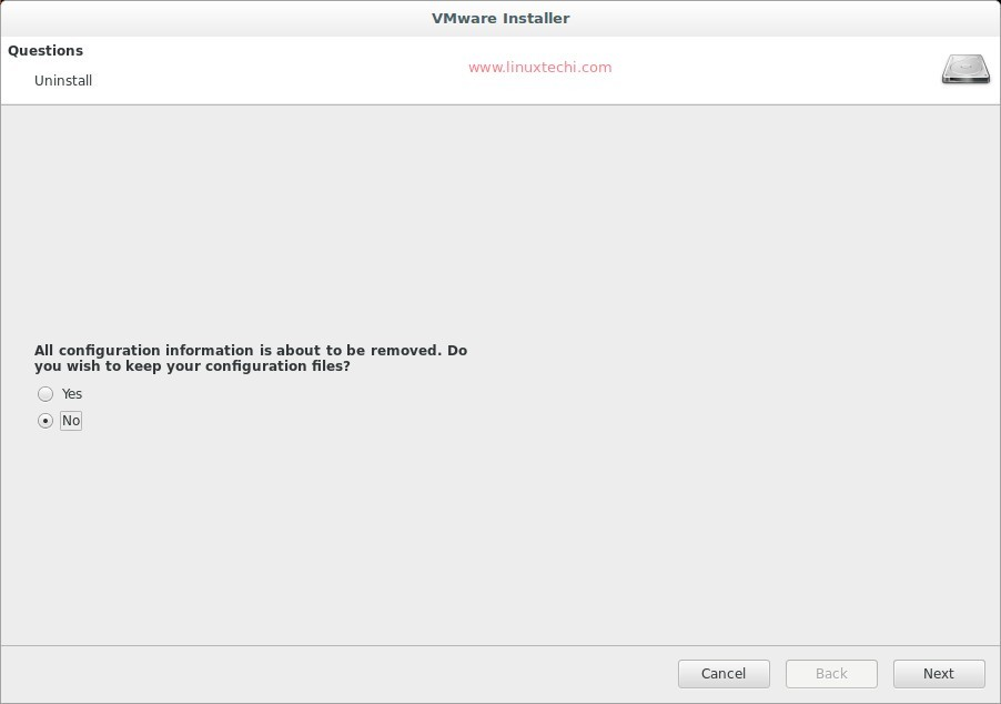 vmware tools installation is in progress on this machine