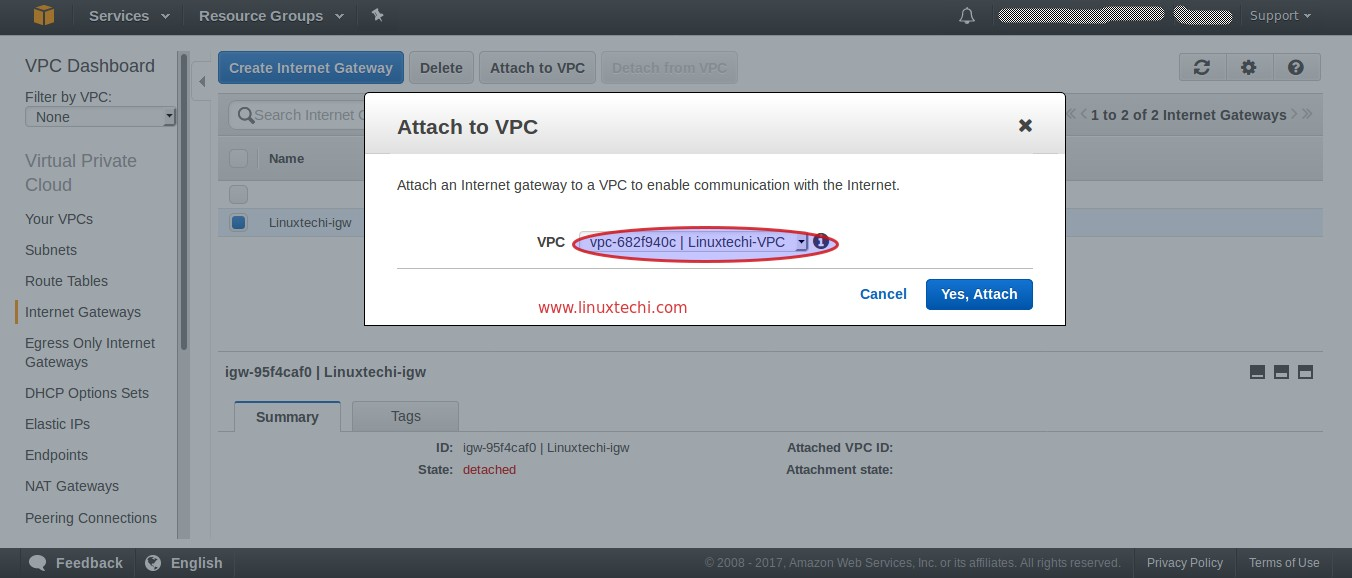 Attach-Internet-gateway-VPC-AWS