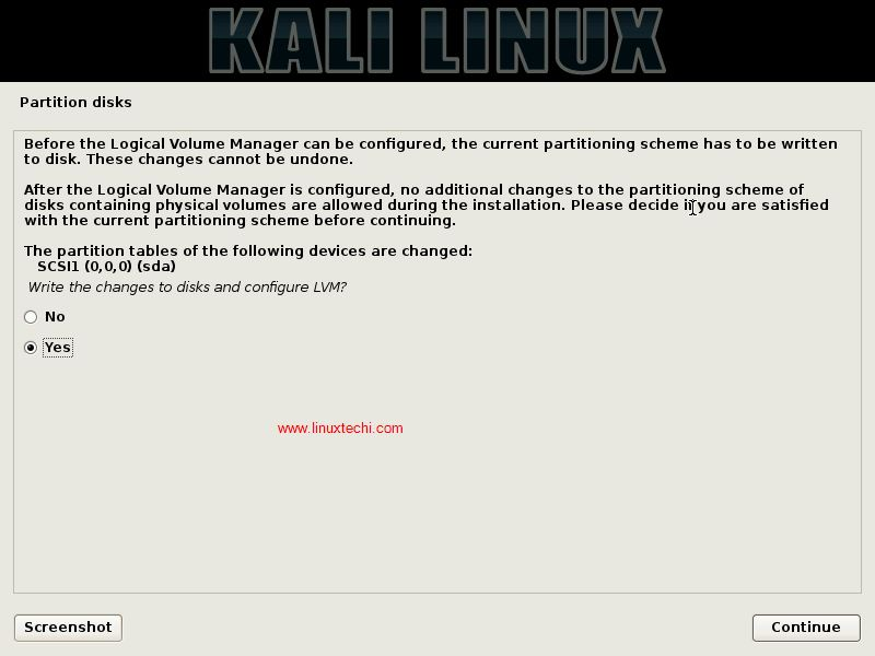 Write-changes-to-disk-KaliLinux-installation