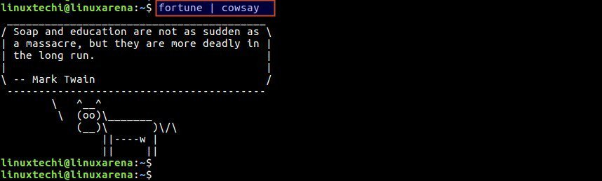 cowsay-with-fortune-command-output