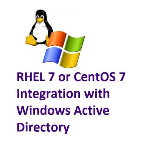 How to Integrate RHEL 7 or CentOS 7 with Windows Active