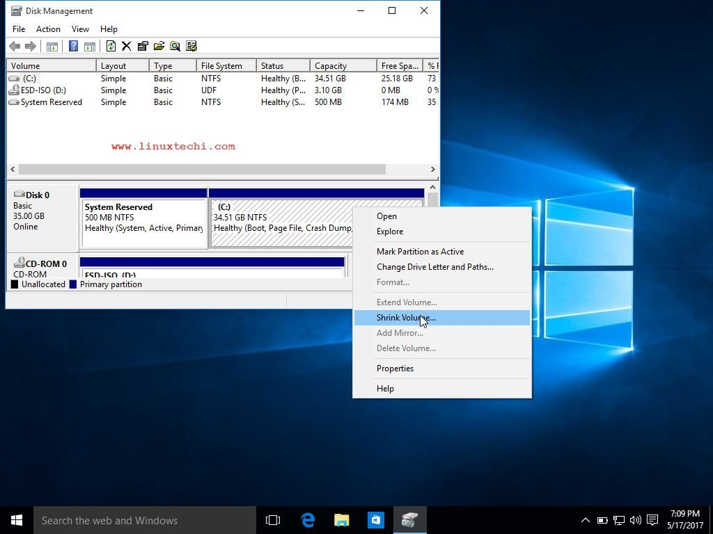 Shrink-Volume-Windows10