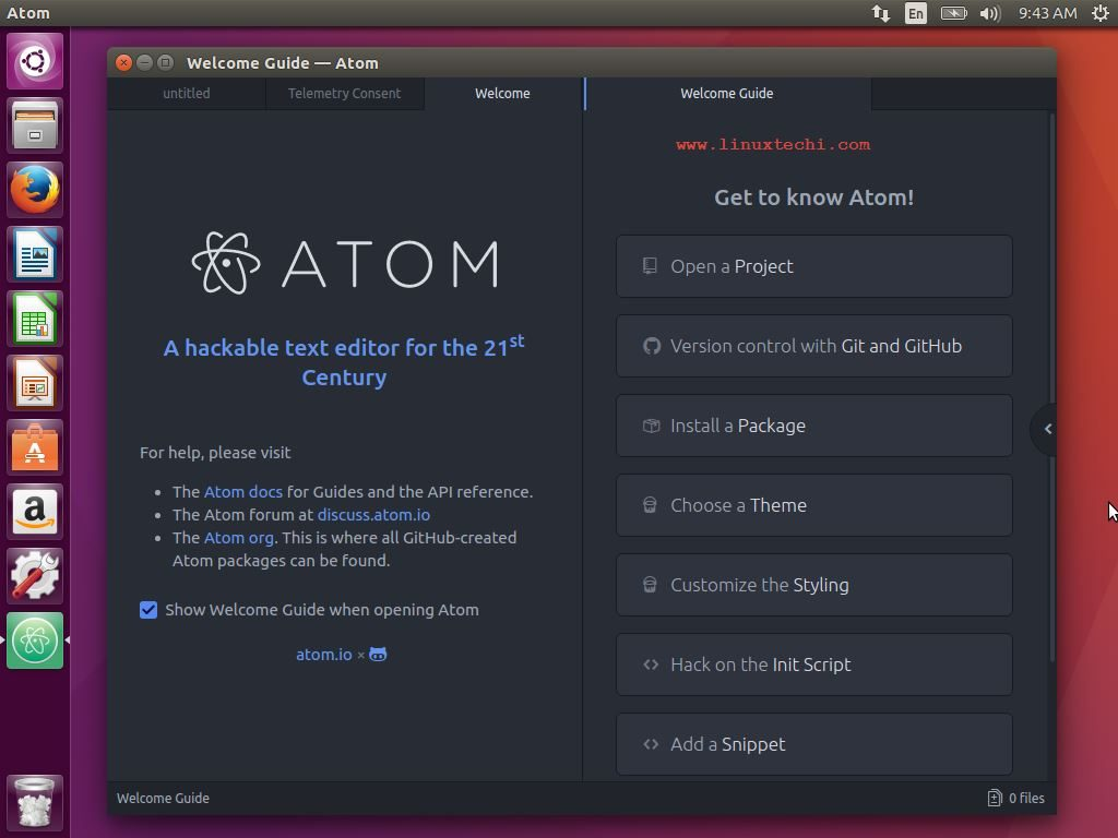 How To Install Atom Text Editor On Ubuntu Linux