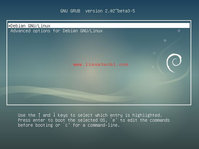 Debian9-starting-Screen