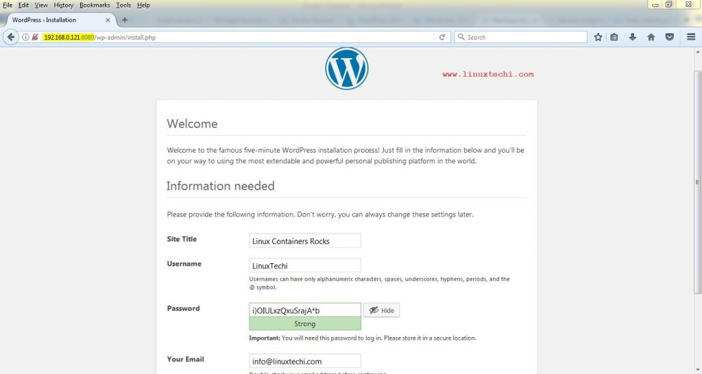 WordPress-Installation-Inside-Container