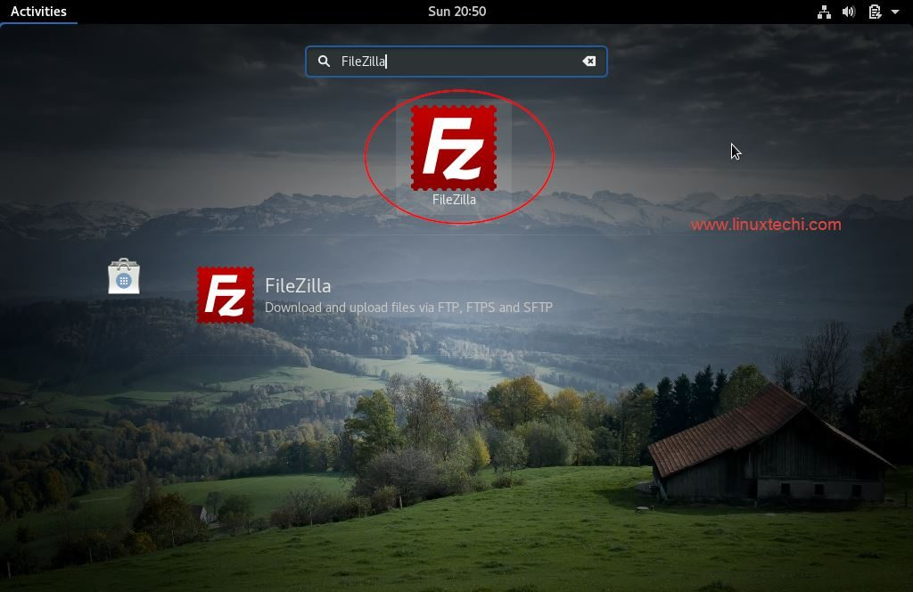 Access-FileZilla-Fedora26