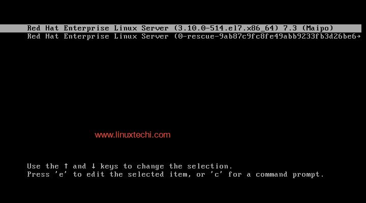 How to Boot RHEL 7 / CentOS 7 Server in Single User Mode