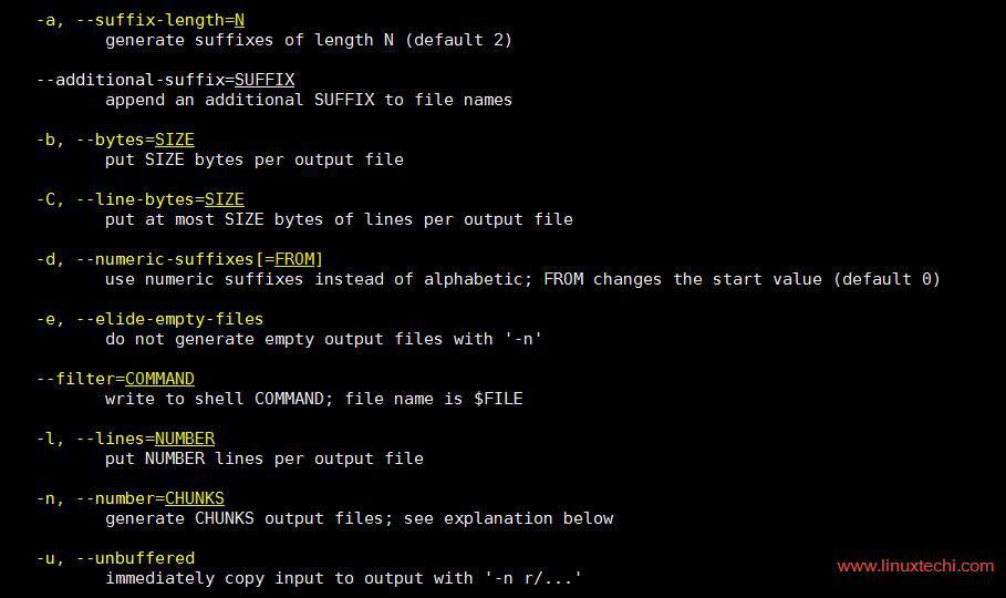 11 Useful split command examples for Linux/UNIX systems