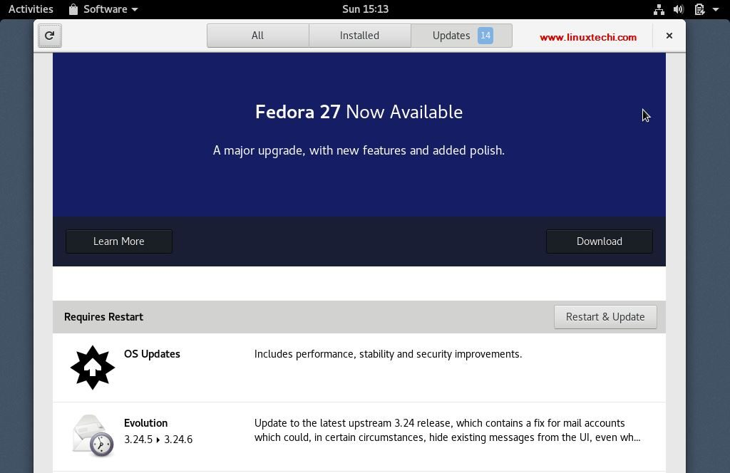 Upgrade-Fedora26-GNOME-Software