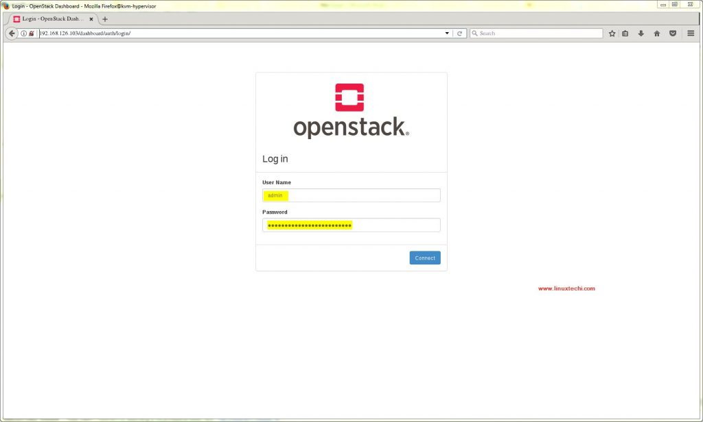 Login -OpenStack-Dashboard-TripleO