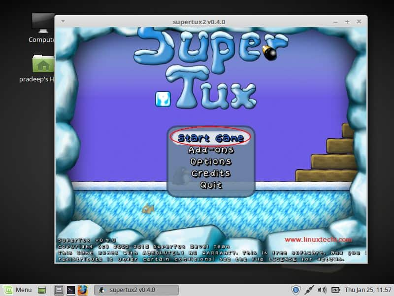 Start-SuperTux2-LinuxMint18