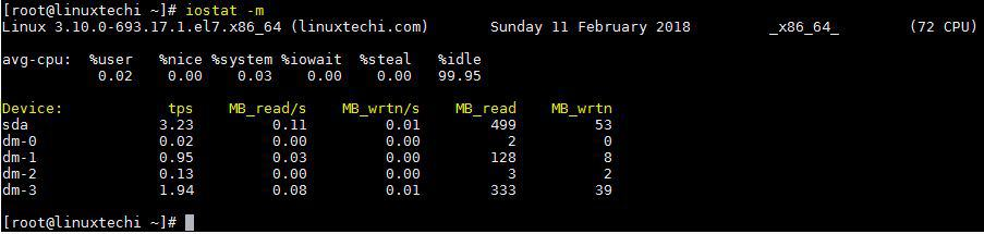 How to Monitor Linux Systems Performance with iostat command