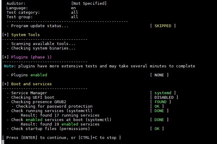 system-tool-Boot-services-lynis