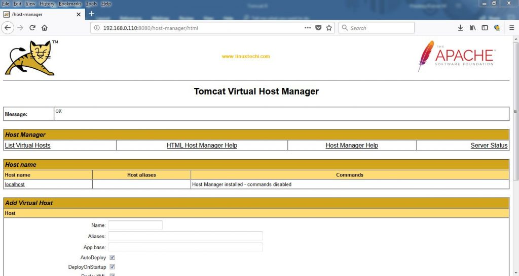 Host-Manager-Dashboard-Tomcat9