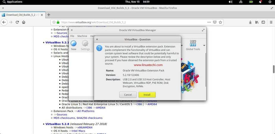 How to Install VirtualBox and Extension Pack on Elementary