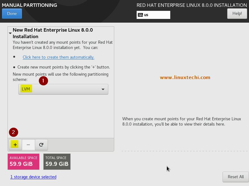 Red Hat Enterprise Linux (RHEL) 8 Installation Steps with