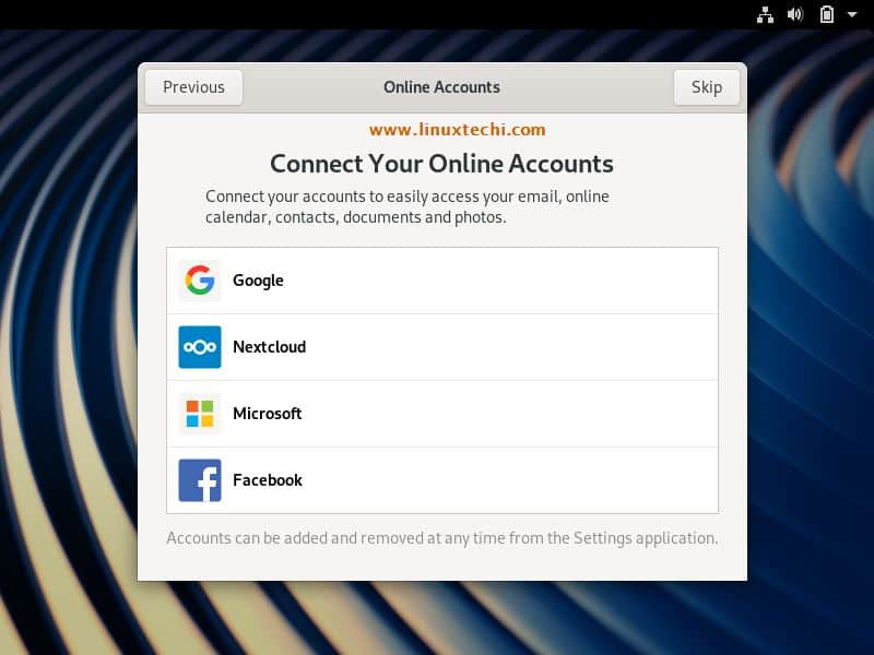 Online-Accounts-Sync-Fedora30
