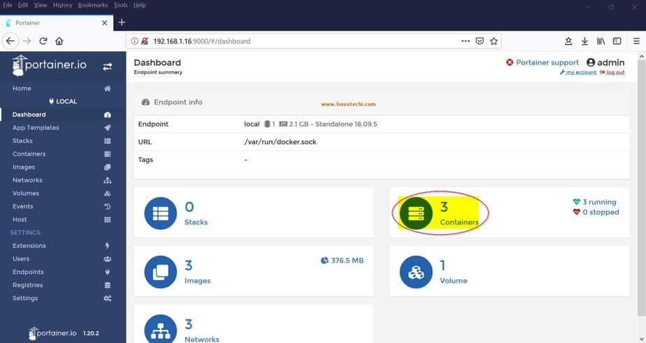 Monitor and Manage Docker Containers with Portainer io (GUI