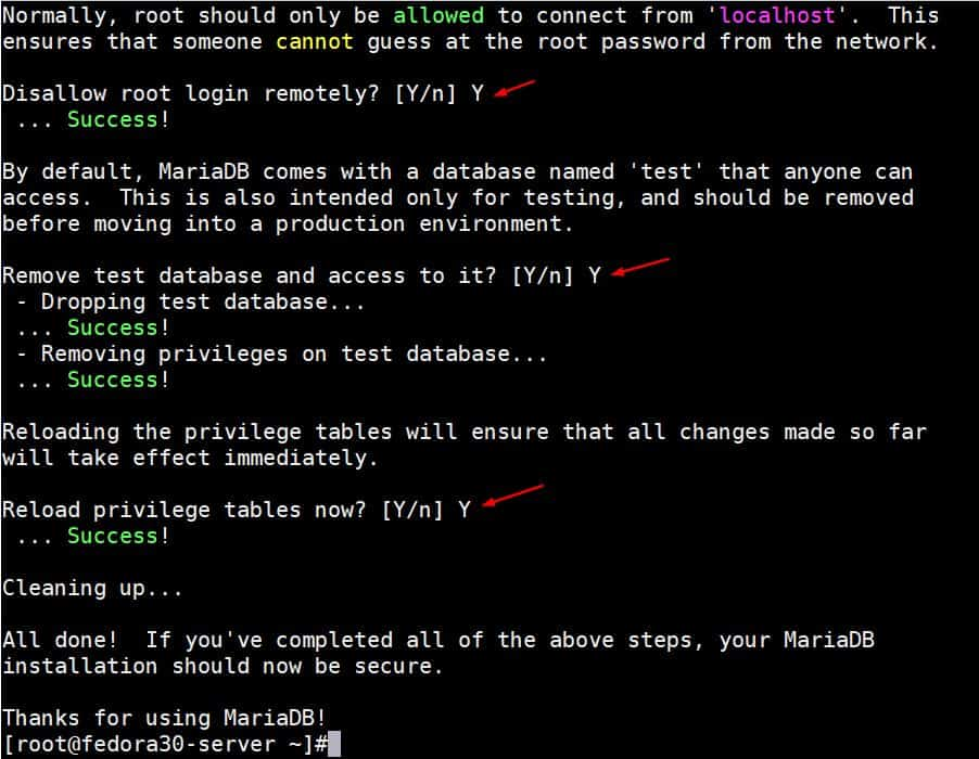 Secure-MariaDB-Installation-Part2