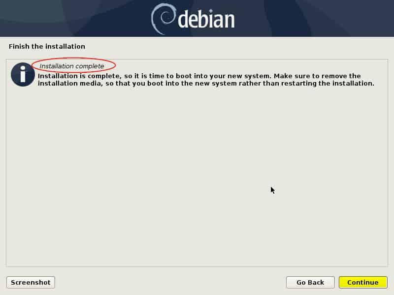 Installation-Completed-Debain10