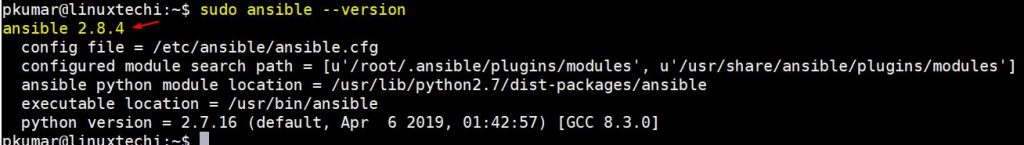 latest-ansible-version