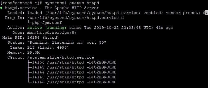 Check-status-httpd-centos8
