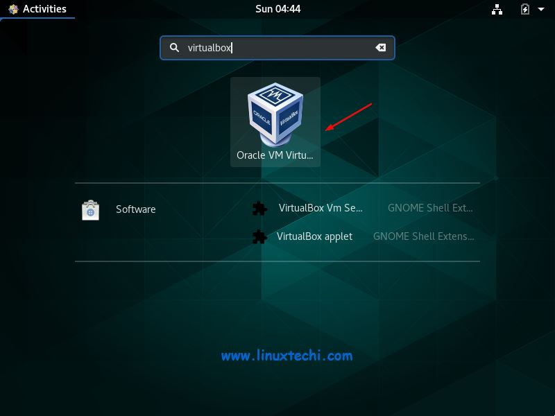 Access-VirtualBox-CentOS8