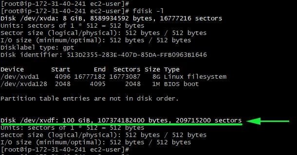 fdisk-command-view-details-newly-attached-volume-aws