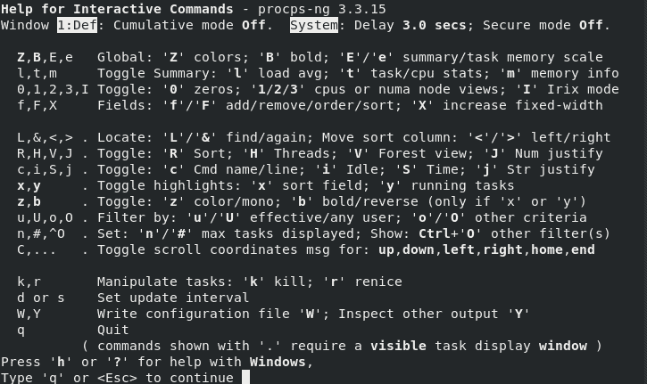 help-top-command-linux