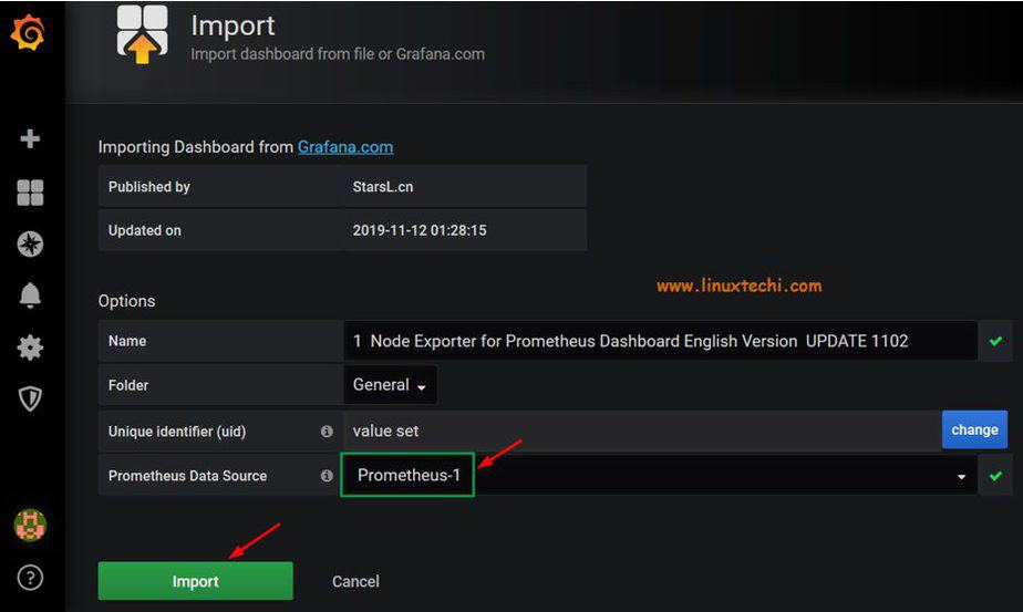 Import-Dashboard-Grafana-Json-File