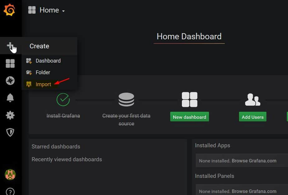 Import-Data-Grafana-Dashboard