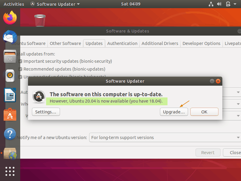 Ubuntu20-04-upgrade-available
