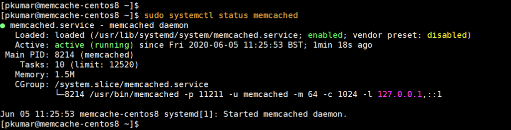 Memcached-Service-Status-