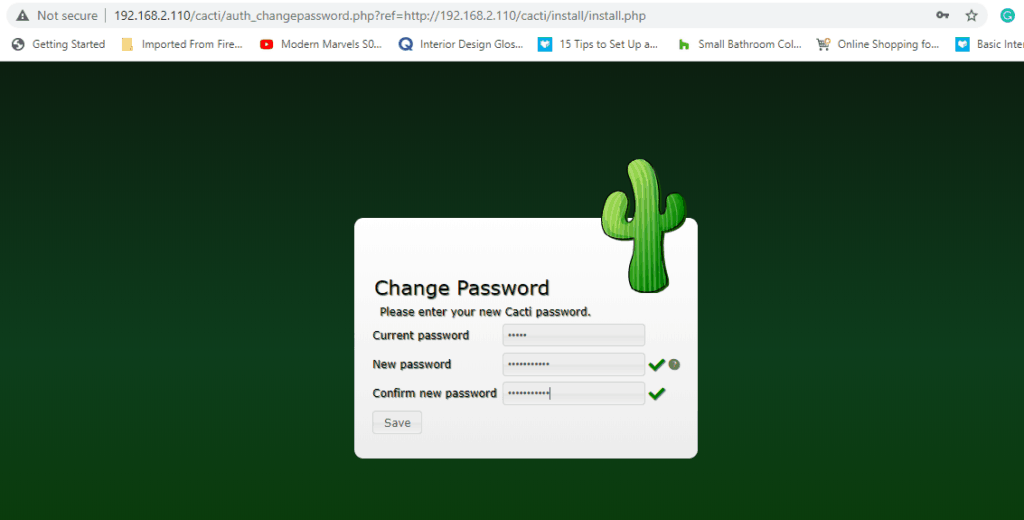 Change-Cacti-Password-CentOS8