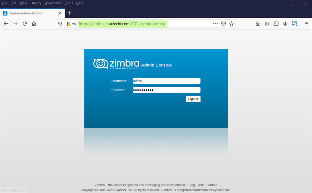 Zimbra-Administration-Login-Page-CentOS8