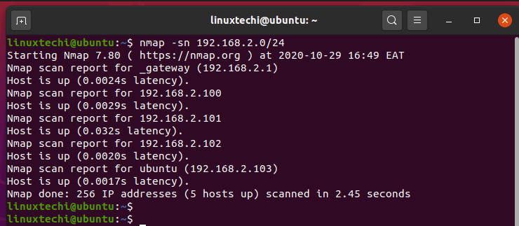 scan-active-host-from-network-nmap-command